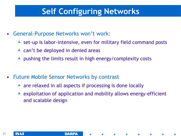 Self Configuring Networks