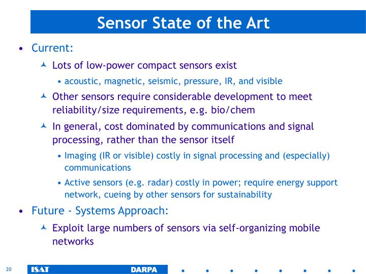 Sensor State of the Art