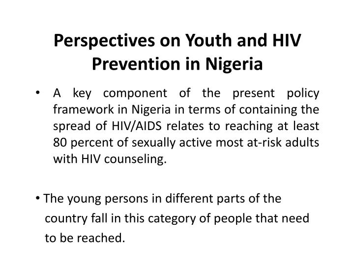 Perspectives on Youth and HIV Prevention in Nigeria