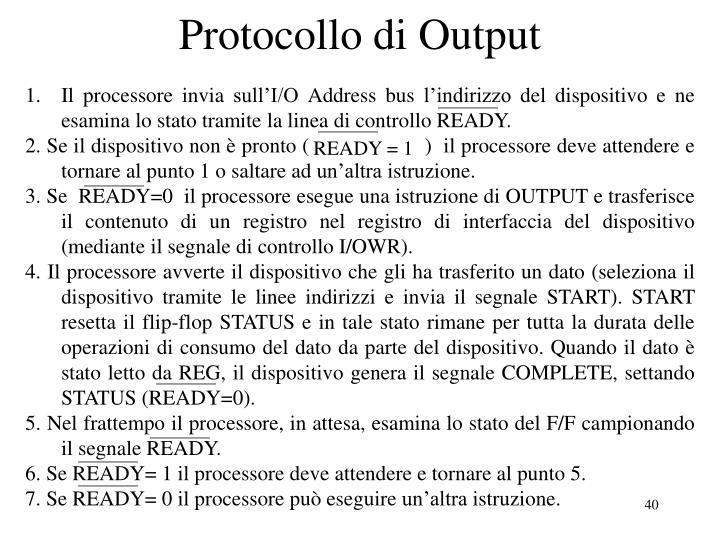 Protocollo di Output