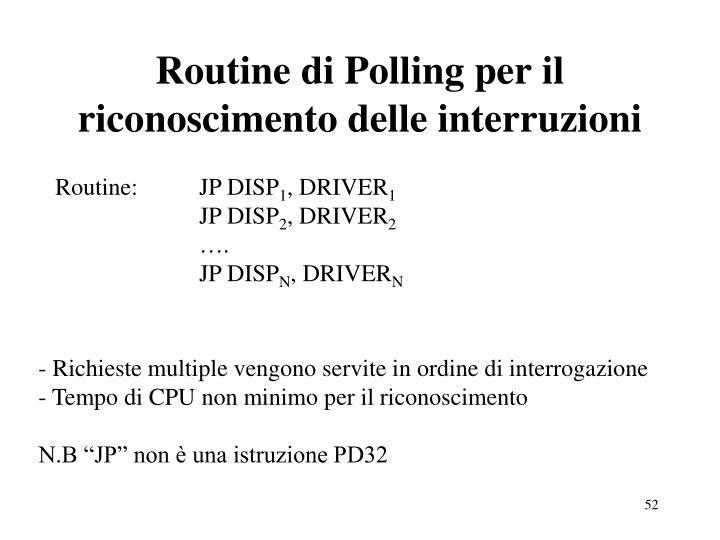 Routine di Polling per il