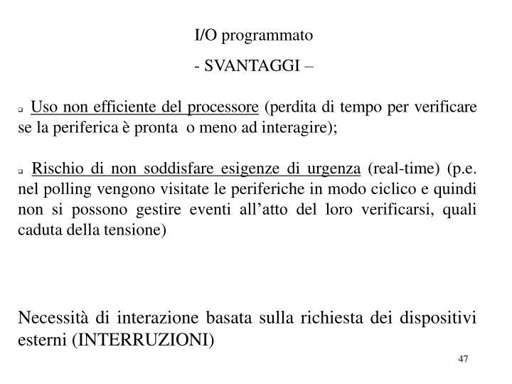 I/O programmato