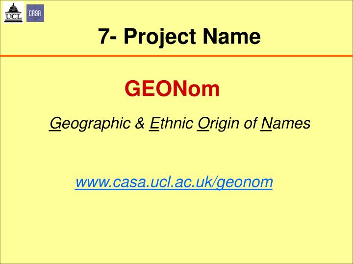 7- Project Name
