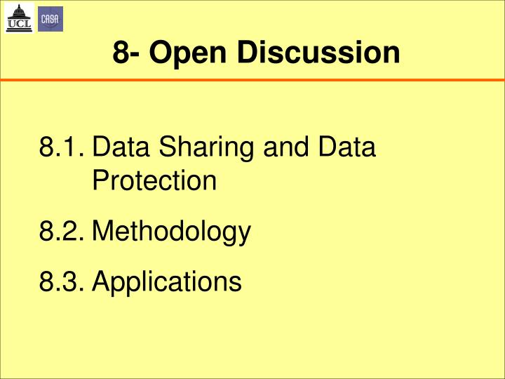 8- Open Discussion