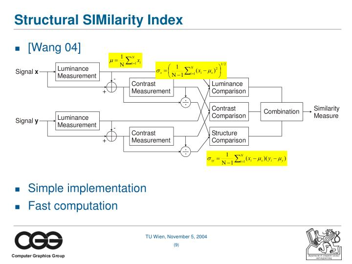 Structural SIMilarity Index