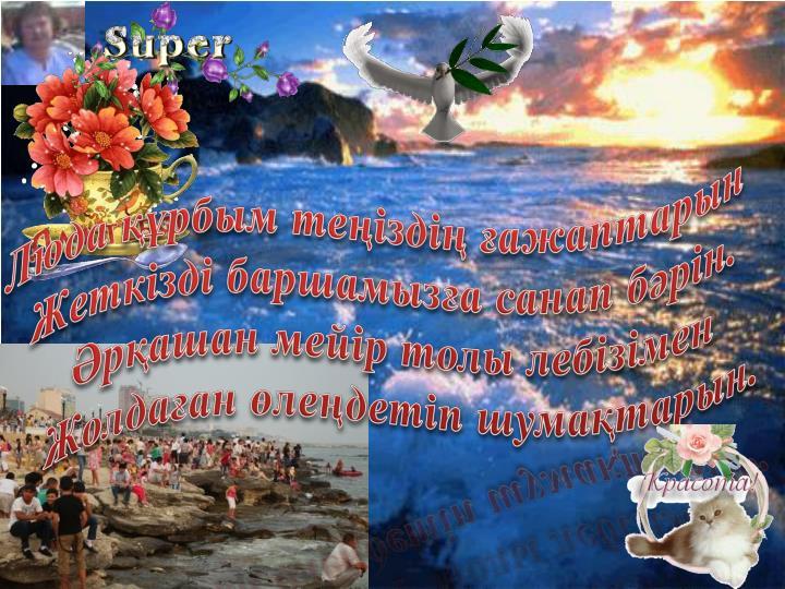 Люда құрбым теңіздің ғажаптарын
