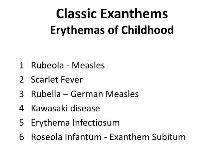 Classic Exanthems