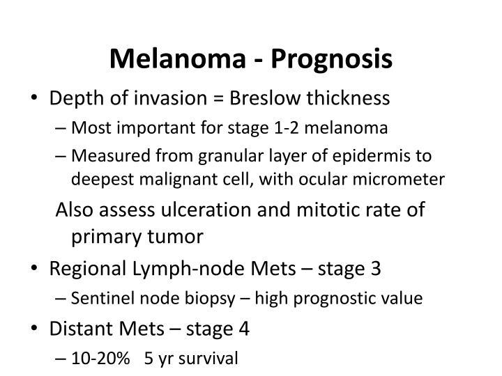 Melanoma - Prognosis