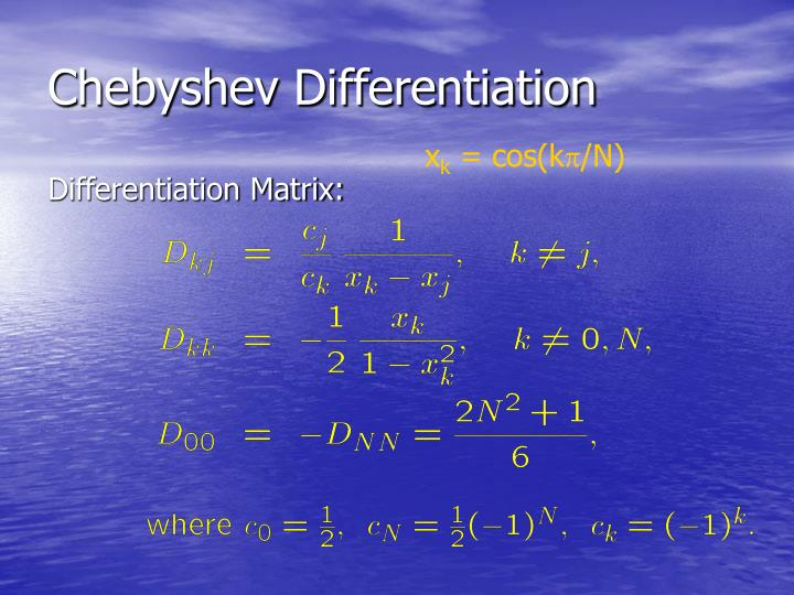 Chebyshev Differentiation