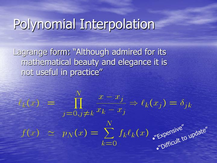 Polynomial Interpolation