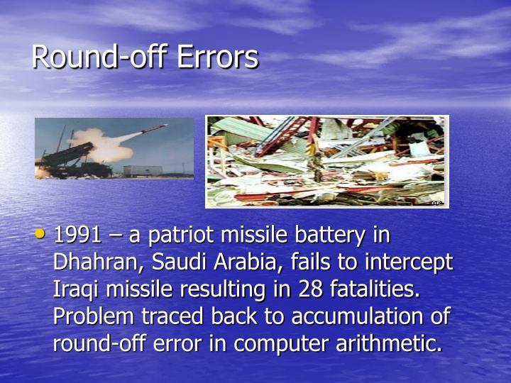 Round-off Errors