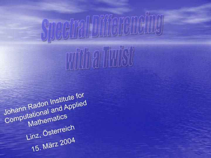 Spectral Differencing