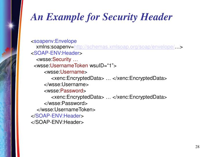 An Example for Security Header