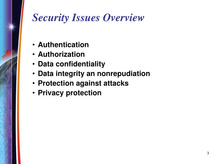 Security issues overview