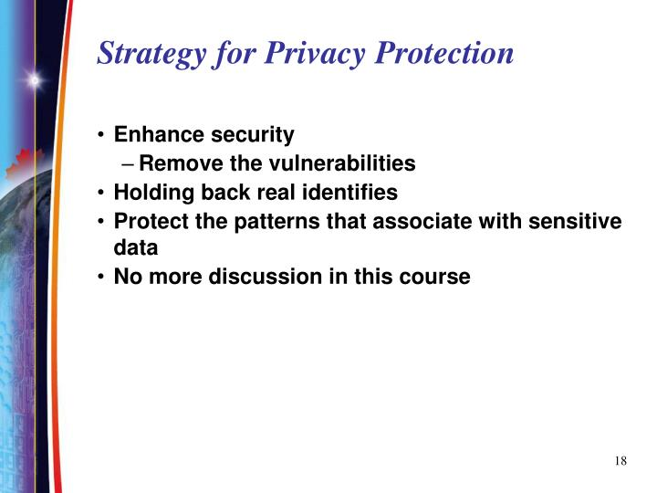 Strategy for Privacy Protection