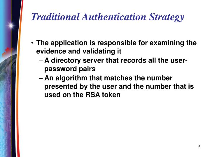 Traditional Authentication Strategy