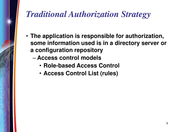 Traditional Authorization Strategy