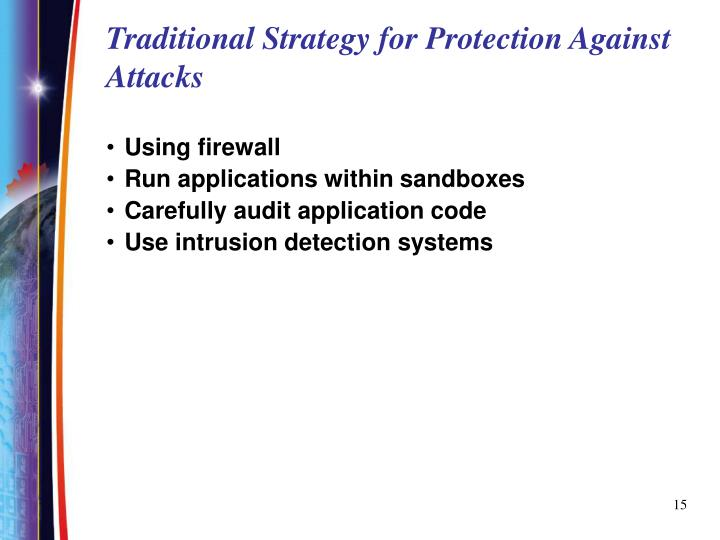 Traditional Strategy for Protection Against Attacks