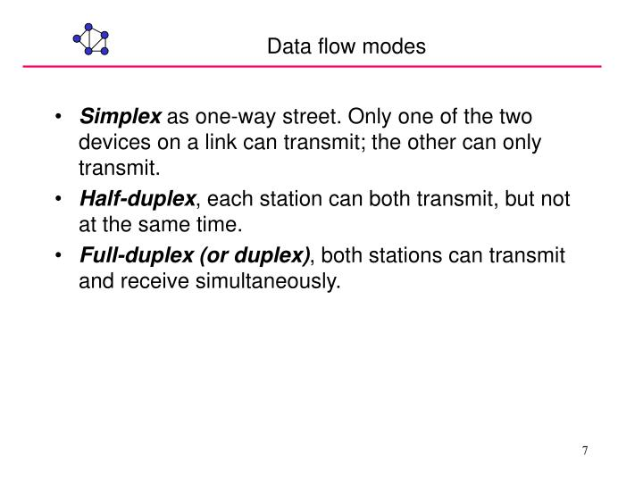 Data flow modes