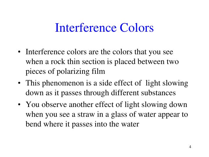 Interference Colors