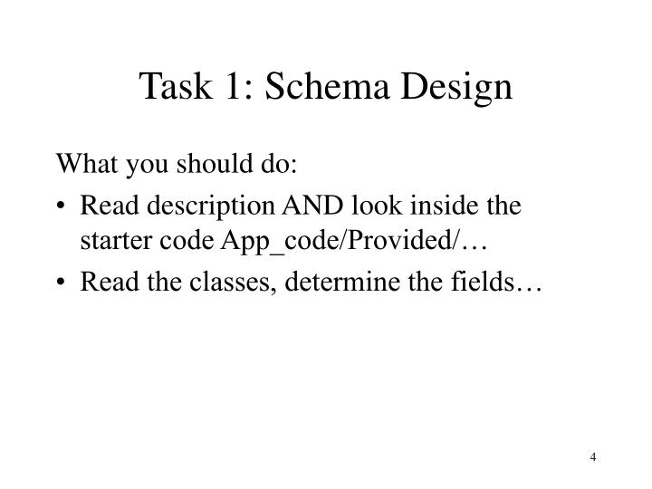 Task 1: Schema Design
