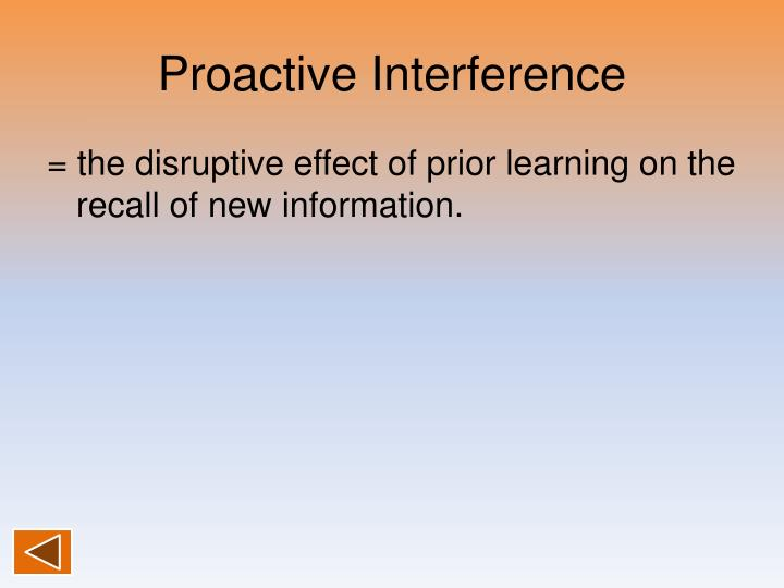 Proactive Interference