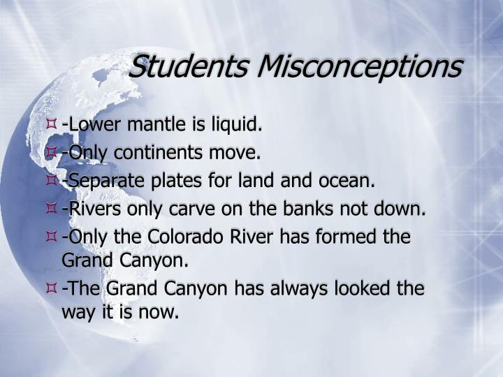 Students Misconceptions
