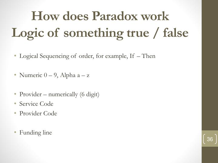 How does Paradox work