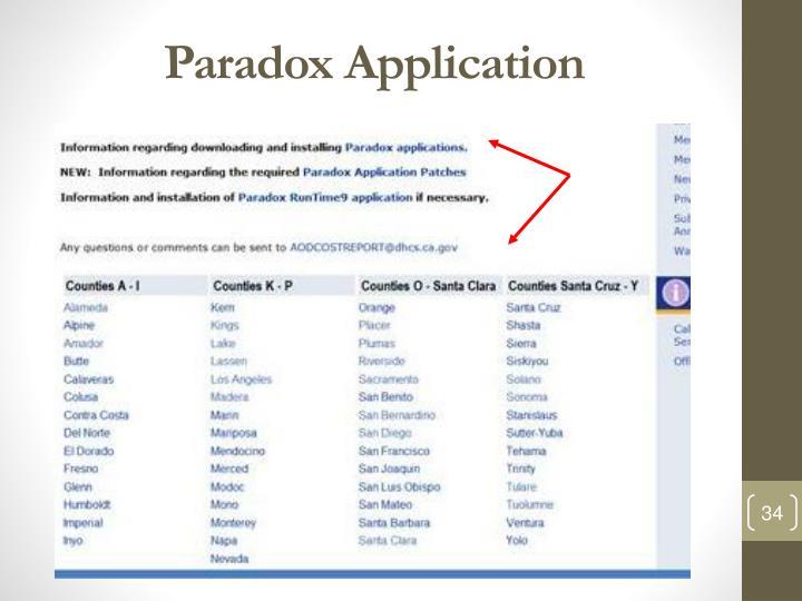 Paradox Application