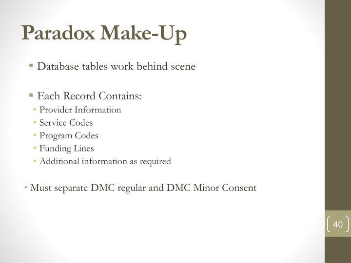 Paradox Make-Up