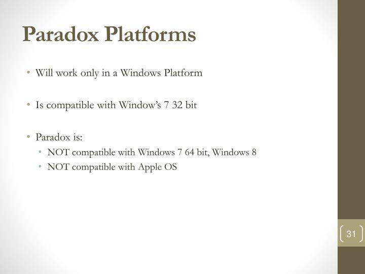 Paradox Platforms