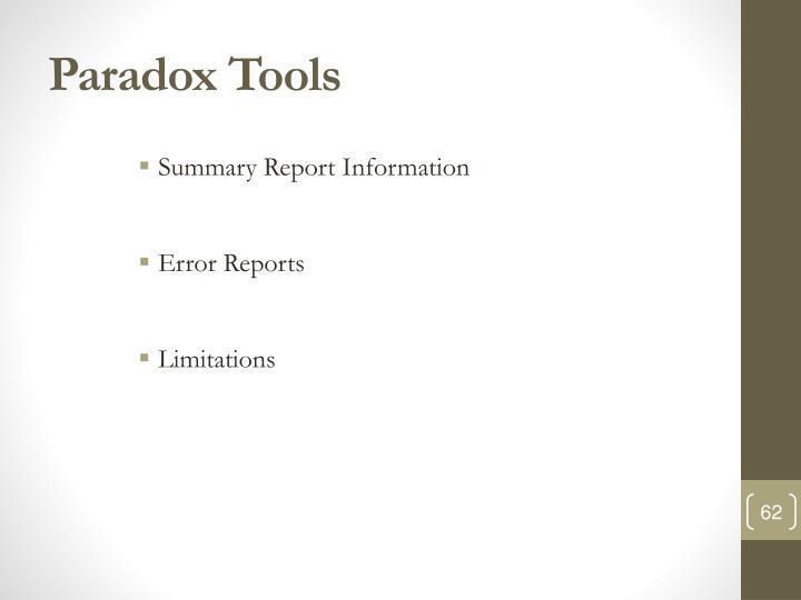 Paradox Tools