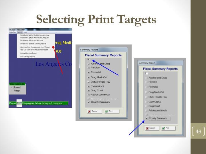 Selecting Print Targets
