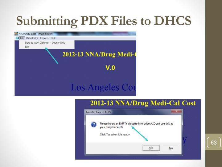 Submitting PDX Files to DHCS