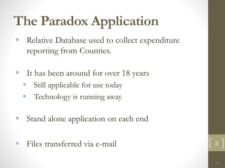 The Paradox Application