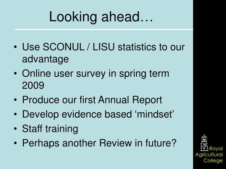 Use SCONUL / LISU statistics to our advantage