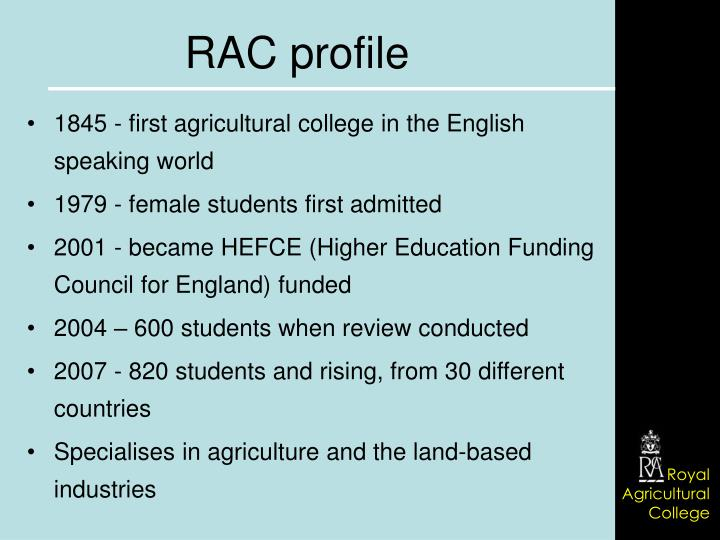 1845 - first agricultural college in the English speaking world
