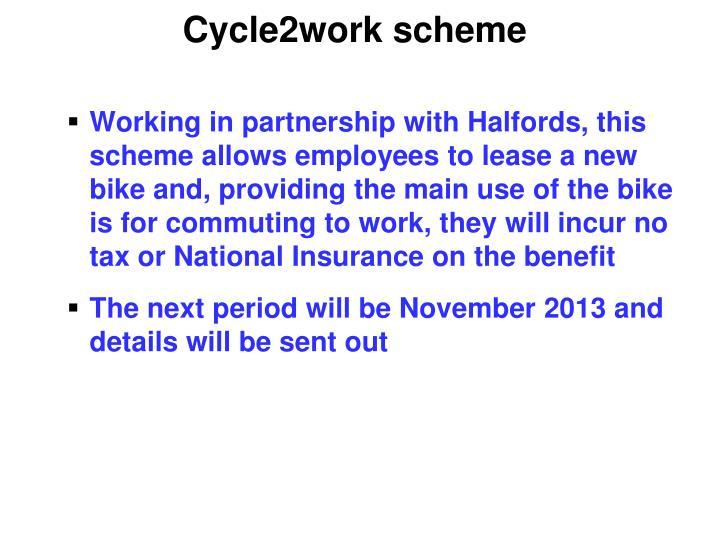 Cycle2work scheme