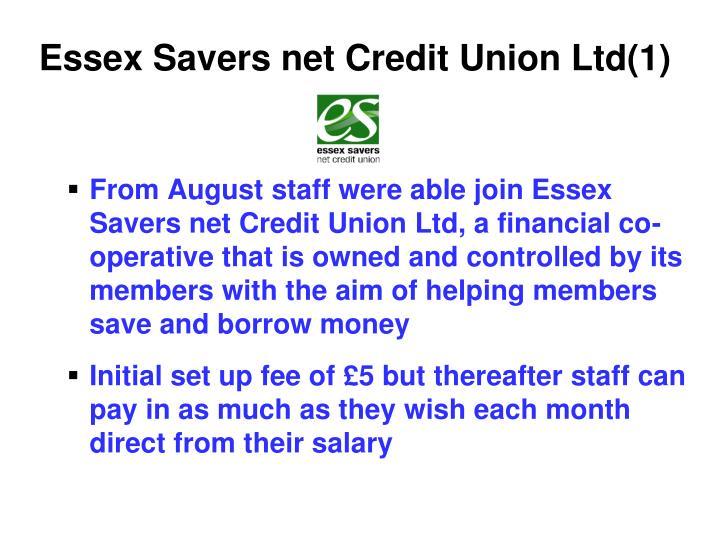 Essex Savers net Credit Union Ltd(1)