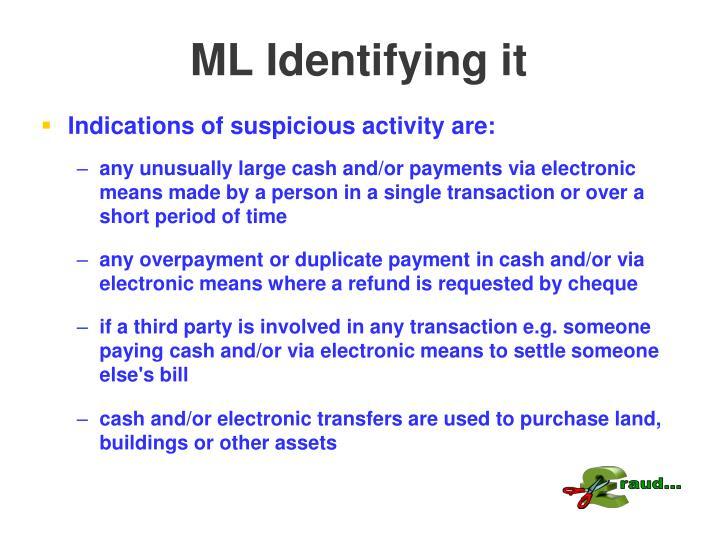 ML Identifying it