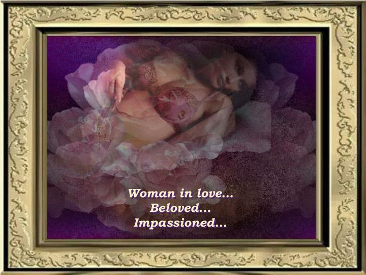 Woman in love…