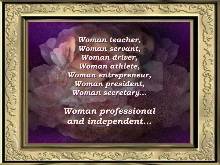 Woman teacher,