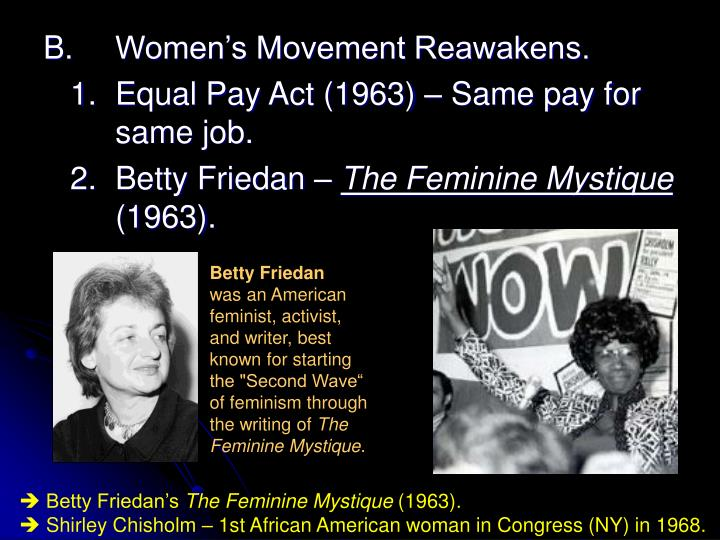 B.Women's Movement Reawakens.