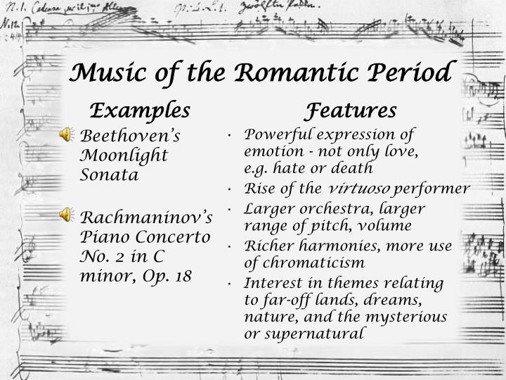 the evolution of the concerto from classical to romantic era essay Buy compare and contrast between classical and romantic period essay paper online classical and romantic music evolved in different eras which are highly distinguished by different features like their content and method of composition.