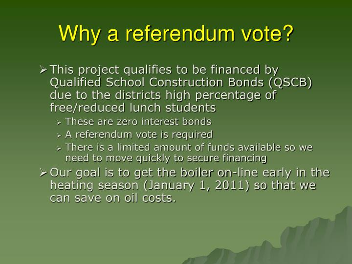 Why a referendum vote?