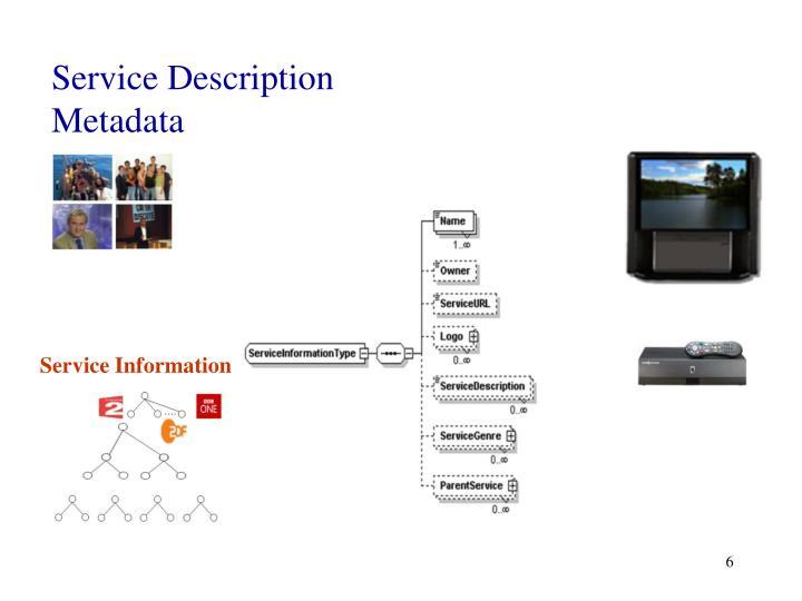 Service Description Metadata