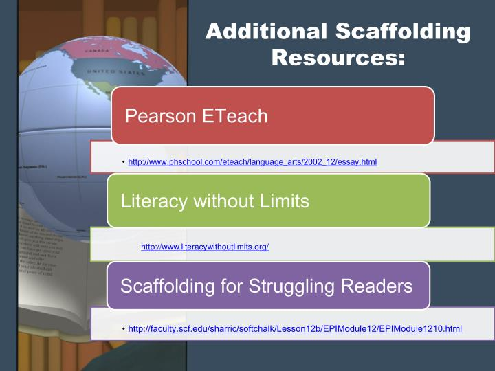 Additional Scaffolding Resources: