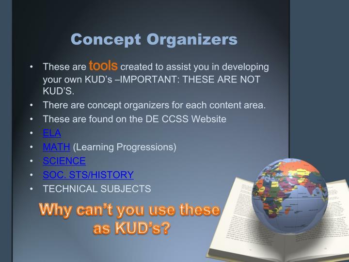 Concept Organizers