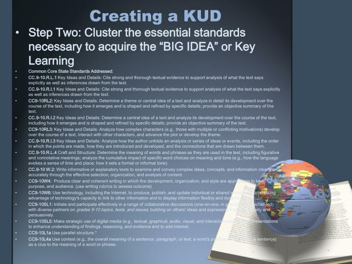 Creating a KUD