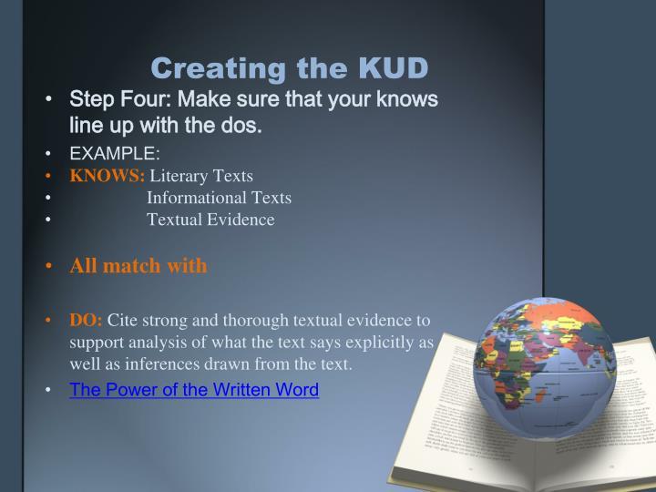 Creating the KUD